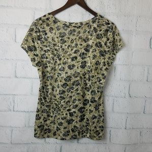 Kenneth Cole Tops - Kenneth Cole | Animal Print Burnout Tee